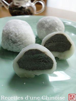 Recettes d'une Chinoise: Mochi glacé ou Yukimi daifuku 麻糬冰淇淋 máshǔ bīngjīlín