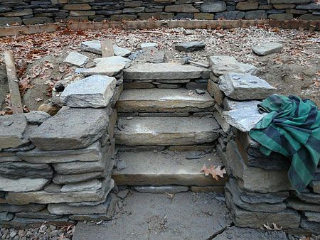 Cobblestone Slope Garden | ... Path, Wall, Stairs, And Goshen Stone