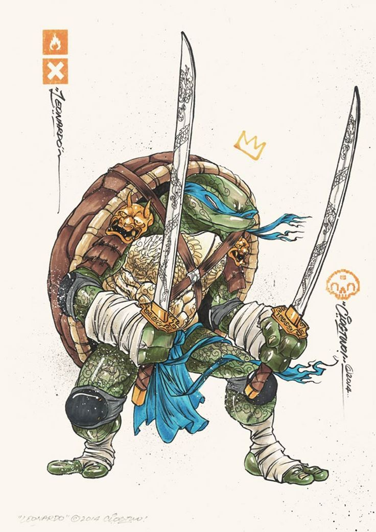 TMNT characters seen by CLOGTWO #TMNT
