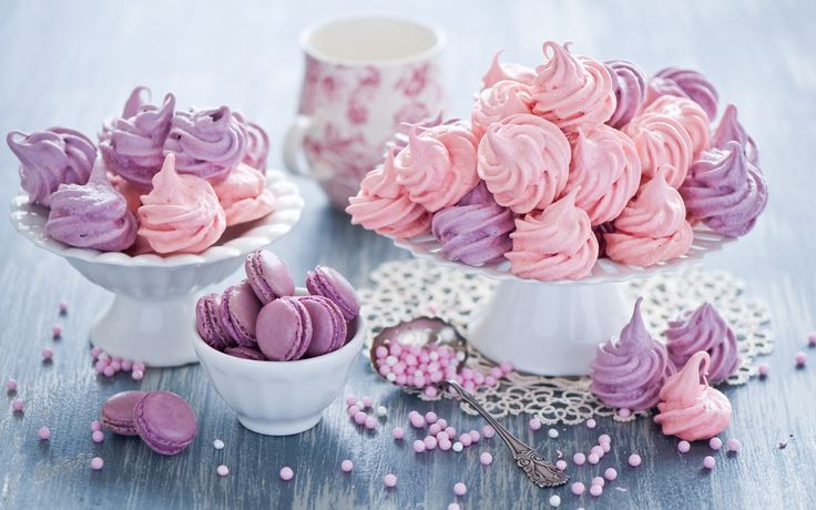 Colorful meringue cookies!