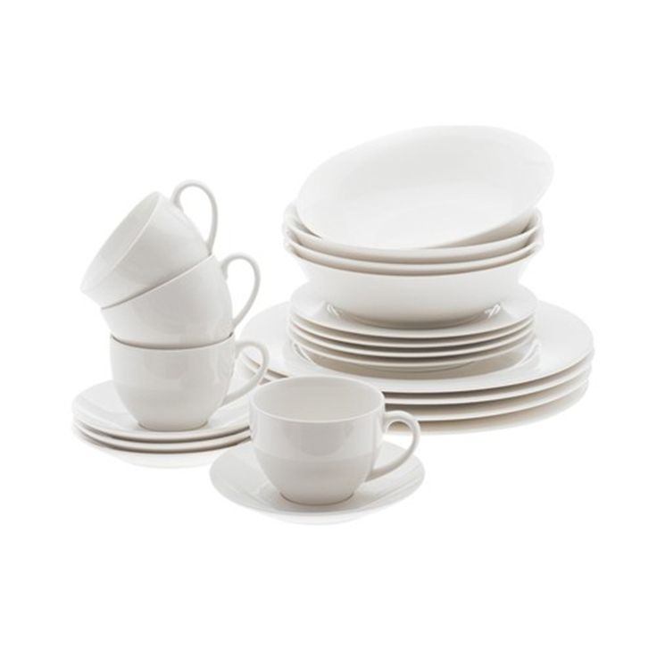 Maxwell & Williams White Basics European 20 Piece Dinner Set | Dinner Sets - House