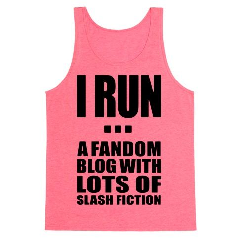 A fandom blog that may or may not be full of slash fiction of my favorite fanfics from across the fandoms. Indulge your fake workout with promises of nerdy fanfics and tumblr pride.