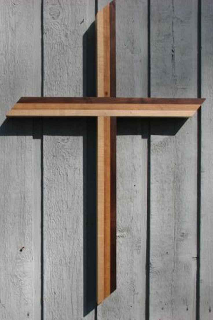 5 foot Trinity Hardwood Dimensional Cross – Celebrate Faith