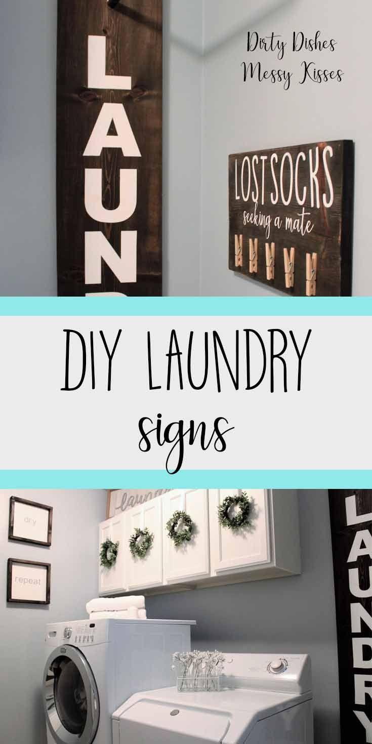 Diy Laundry Room Hanger Sign Dirtydishesmessykisses Com Diy Laundry Room Signs Laundry Room Diy Diy Laundry Laundry room signs for home diy home