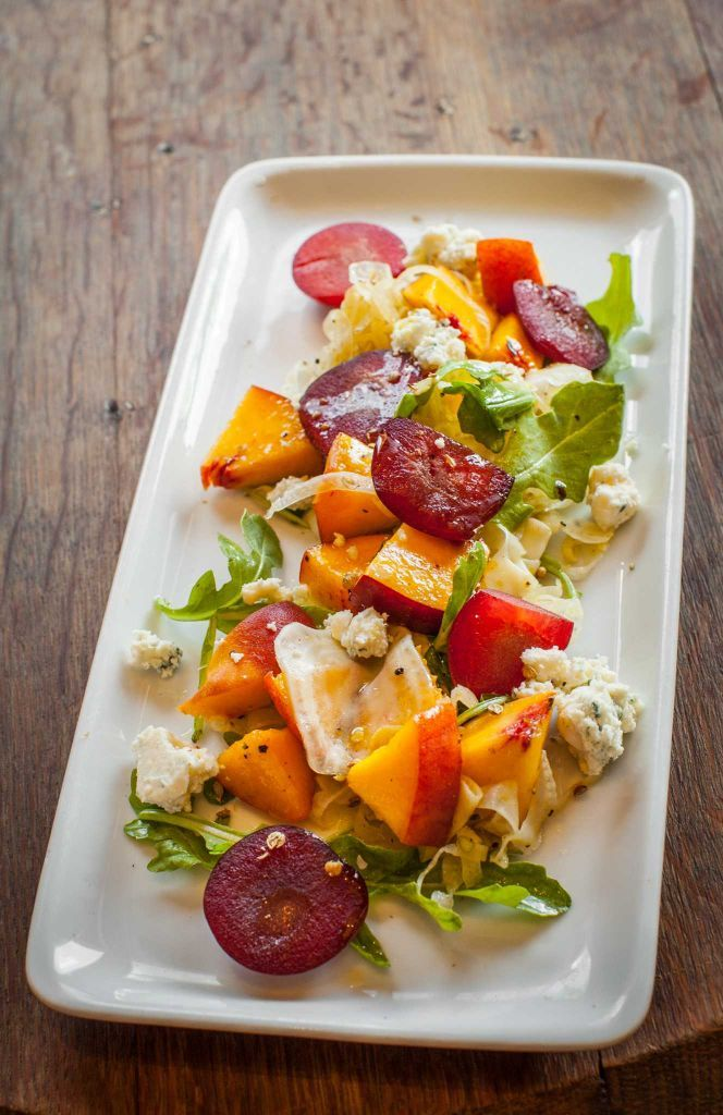 Number 8: Coltivare. Salad of Texas peaches, red plums, fennel, Point Reyes blue cheese and mizuna greens.