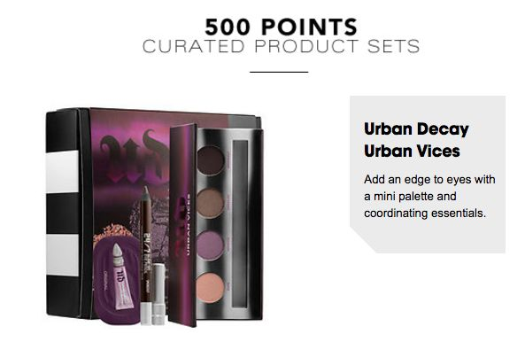 *NEW* Sephora 500 pts for Urban Decay Cosmetics Urban Vices set