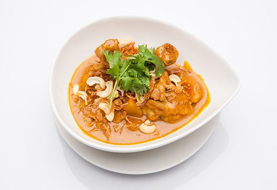 Thai Masaman Chicken Curry in the rice cooker