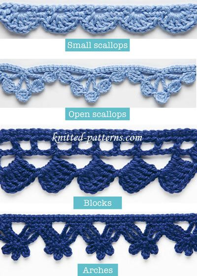 Crochet Edgings And Trims Tutorial - (knitting-patterns): Crochet Edgings And Trims Tutorial - (knitting-patterns)