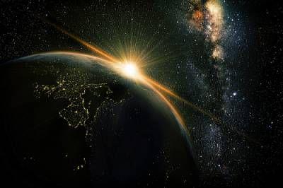 zachód świat droga mleczna wszechświat
