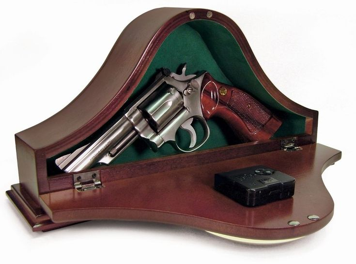 MGC Tambor-Style Solid Wood Furniture Weapon Gun Concealment Mantel Brown Clock