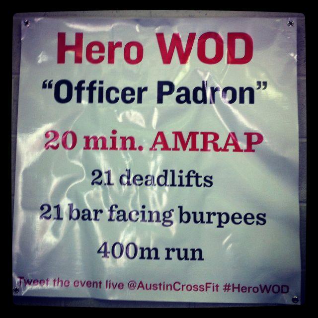 "Fit & Fearless CrossFit Hero WOD ""Officer Padron"" in Austin, Texas."