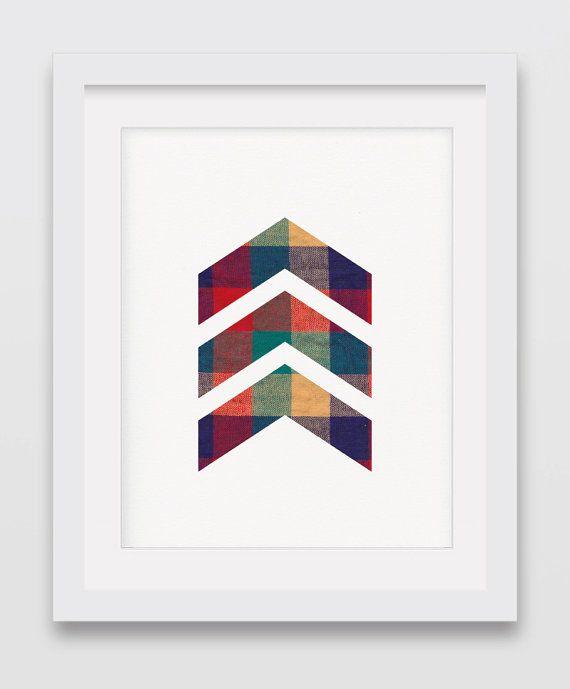Lumberjack Chevrons Chevron Print Textil by AurasWallsVinyls