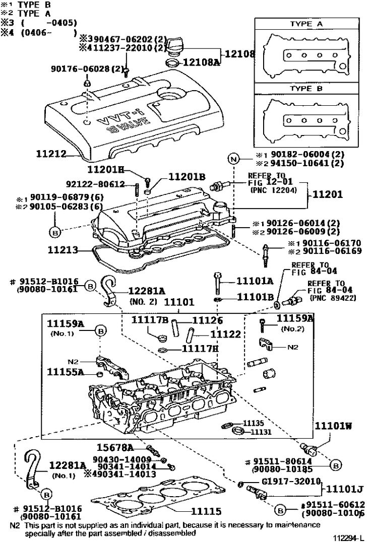 Corolla DIY: 2006 Toyota Corolla Sedan Hatchback 1ZZFE Cylinder Head Exploded Diagram   carro