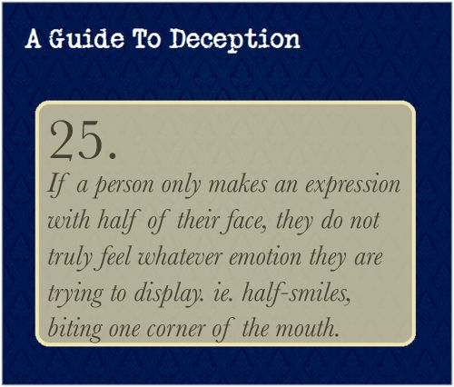 A Guide To Deception — Submission by the-high-functioning-sociopath