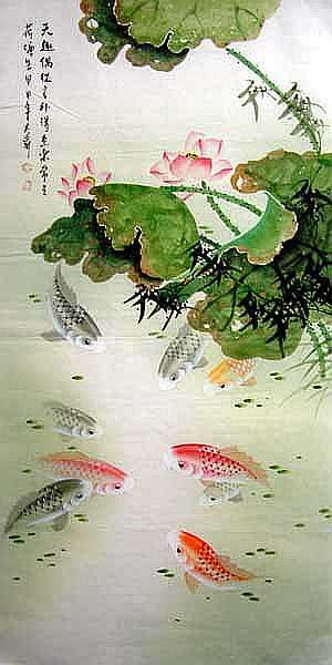 1000 images about chinese art on pinterest for Chinese koi pond