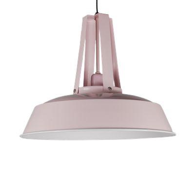 Hanglamp Industria 34 cm licht roze + witte binnenzijde. Collectione / Casa-Bella