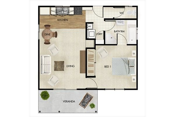 Granny flat designs floor plans pinterest granny for Granny house design