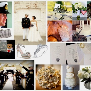 Military wedding color ideas
