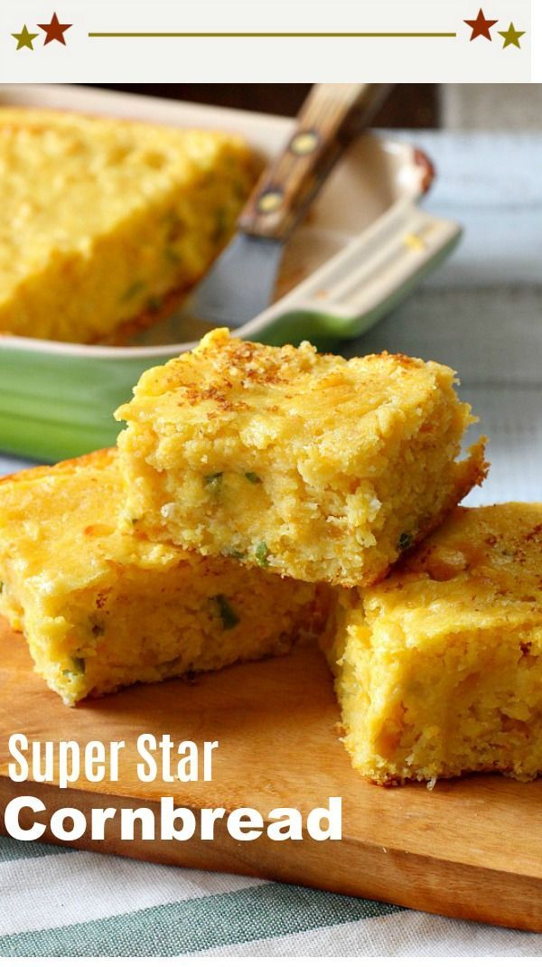 You'd almost swear there was pudding in this Super Moist Jalapeno Buttermilk Cornbread recipe. Using creamed corn and Munster cheese is one of the secrets to this family favorite. #cornbread #moist #buttermilk