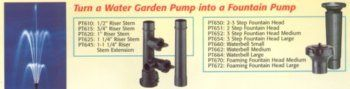 Laguna 3 Step Fountain Head for PowerJet Pump, Large by Laguna. $13.90. Measures 3-1/2-inch length by 6-1/2-inch width by 3-5/7-inch height. Available in large size. Fits Laguna PowerJet fountain/waterfall pump kit models 2000, 2400, 2900. Reversible argyle raincoat. Also fits Laguna PowerJet skimmer filter pump models 7000, 2150. This 3 step fountain head is used for Laguna PowerJet fountain/waterfall pump kit models 2000, 2400, 2900. Also fits Laguna PowerJet...