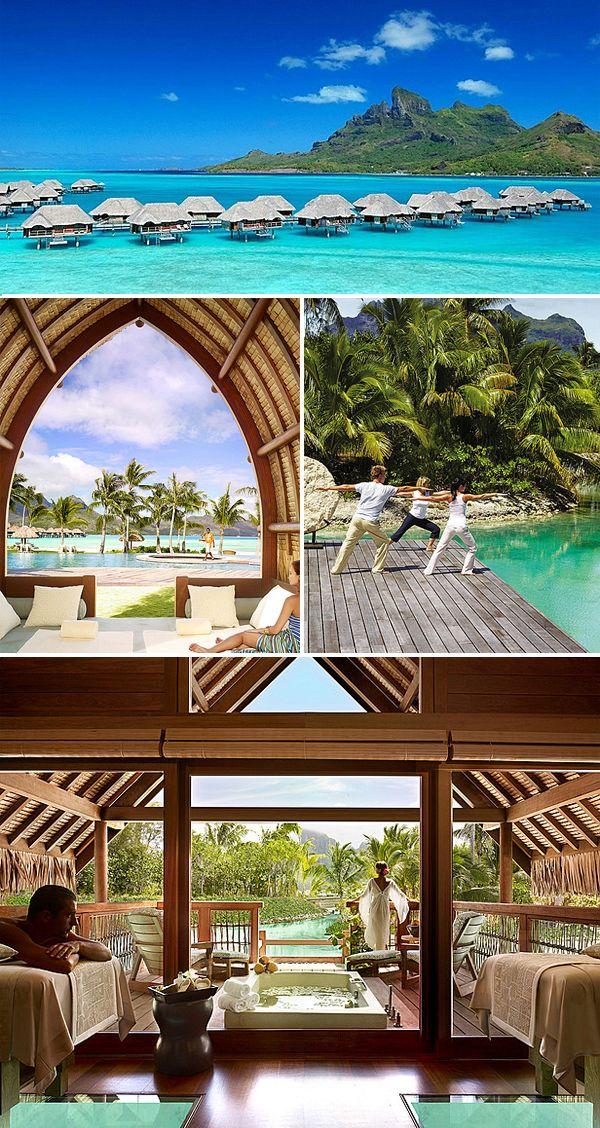 Beautiful four seasons in Bora Bora