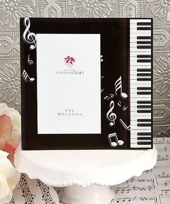 Music Design Glass Photo Frame