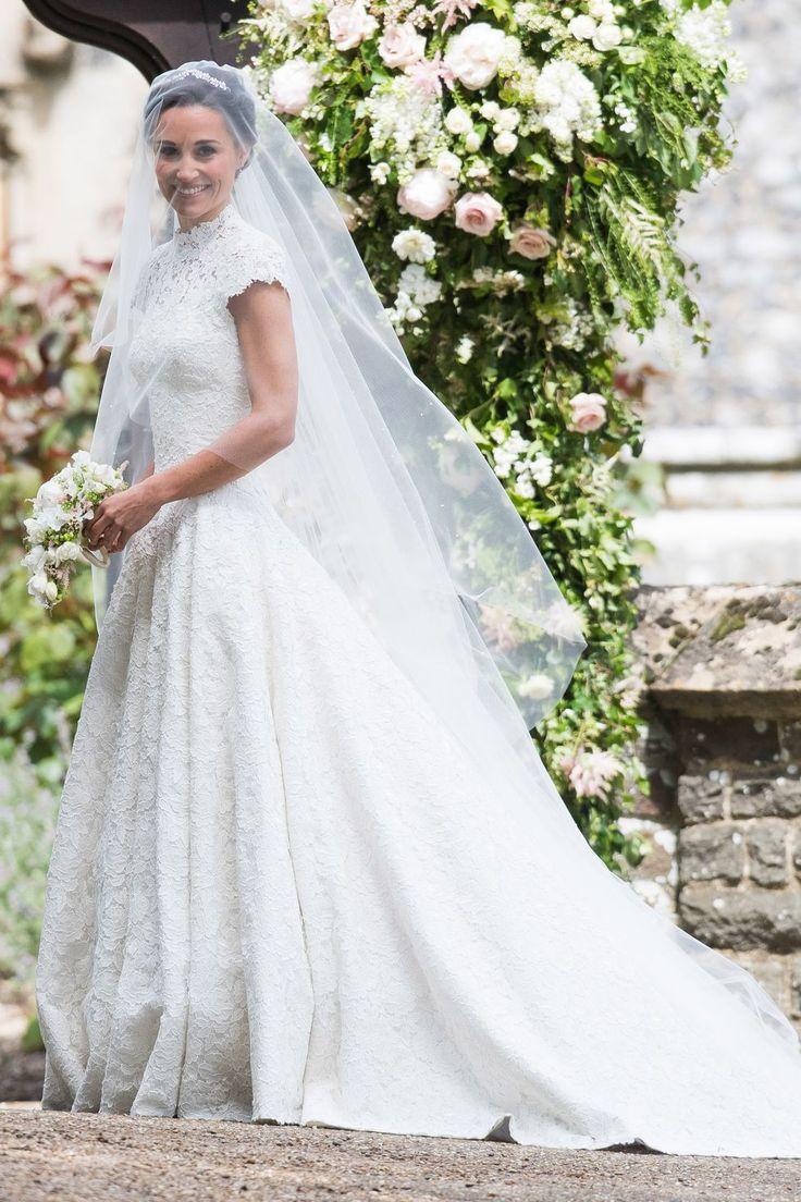 Pippa Middleton married James Matthews in custom Giles Deacon, 2017.