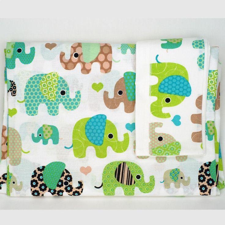 Κουβερλί Κούνιας Σετ (2 Τμχ) Ninna Nanna Elephant