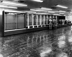 Harvard Mark I/IBM ASCC    The electromechanical Harvard Mark I was powered by a 50-foot rotating shaft. It was the brainchild of Howard Aiken, but built by IBM, whose chairman Thomas J. Watson Sr. was furious at the limited public credit IBM received.
