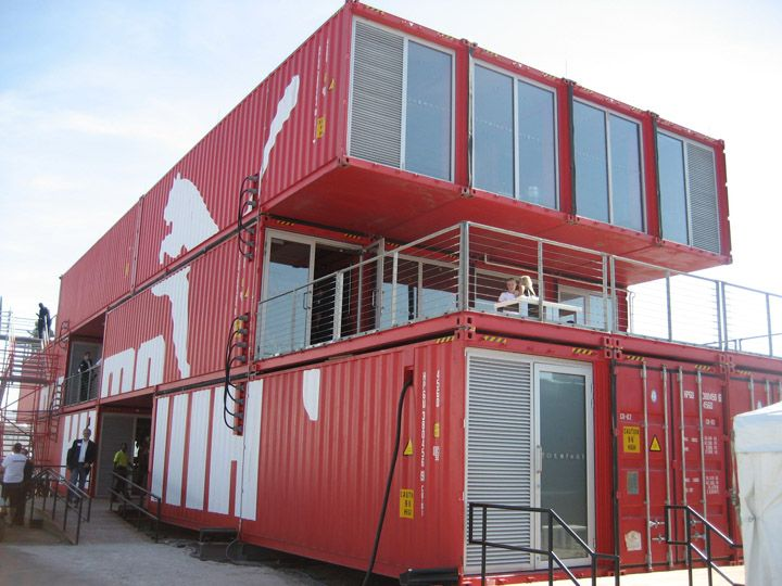 Puma City sports shipping container