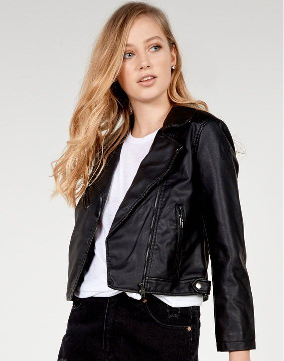 Shop and buy the latest in women's fashion and clothing online at Glassons.com. Check out this Cropped Biker Jacket - The biker jacket is a wardrobe staple! Easiest paired with a plain white tee and denim, trust us it's a winner for sure!.