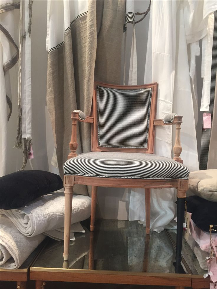 Bunakara   Fingerprint Basic Stripes Chair With Arms   Pure Black. Accent  FurnitureFingerprints