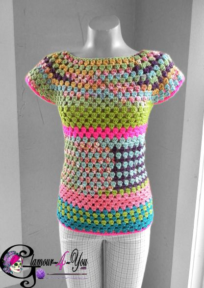 #crochet shirt pattern from Glamour4You