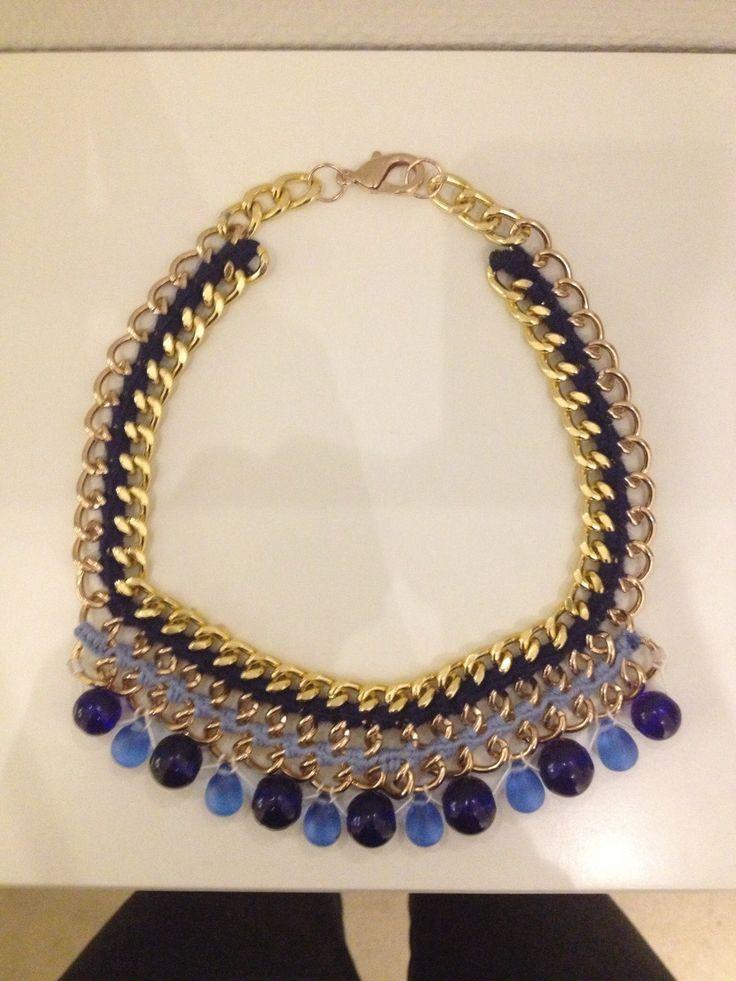 Handmade statement jewellery by Me :-) #chain #beads #crochet