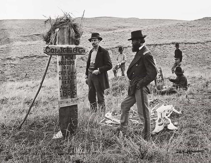 Capt. Myles W. Keogh and troopers of Company I were killed here. Photograph taken in 1877. National Park Service
