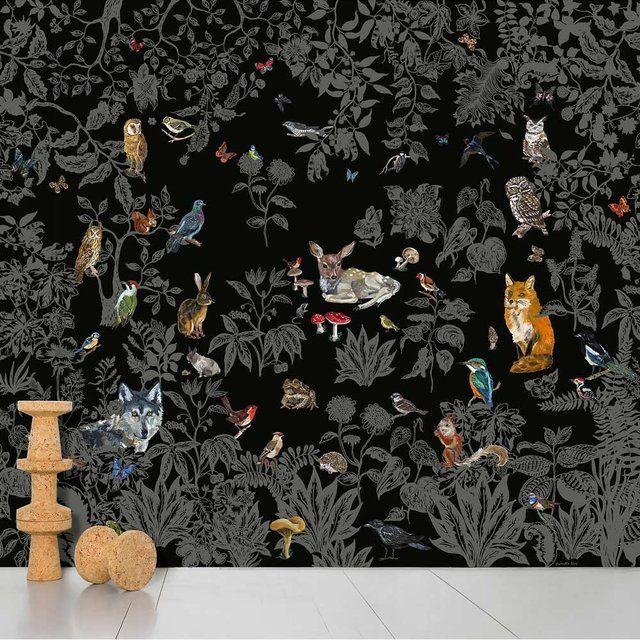Fancy - Foret Noire Wallpaper by Nathalie Lété