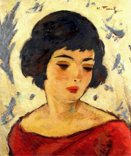 Girl Head - Nicolae Tonitza, Post-Impressionism