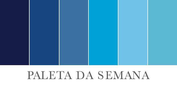 Paleta da cor azul