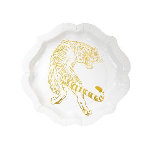 Plato Animal Dorado #GoldTigger #TiggerPlate