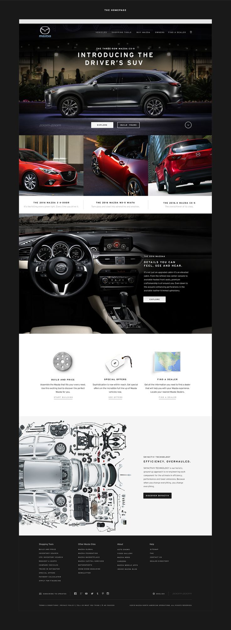 UI Design for the new Mazda website