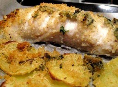 Coda di rospo al forno con patate