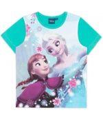 Одежда для девочек Disney Frozen Футболка с коротким рукавом для девочки Frozen, зеленая 699  249 Футболка с коротким рукавом для девочки Frozen, фу
