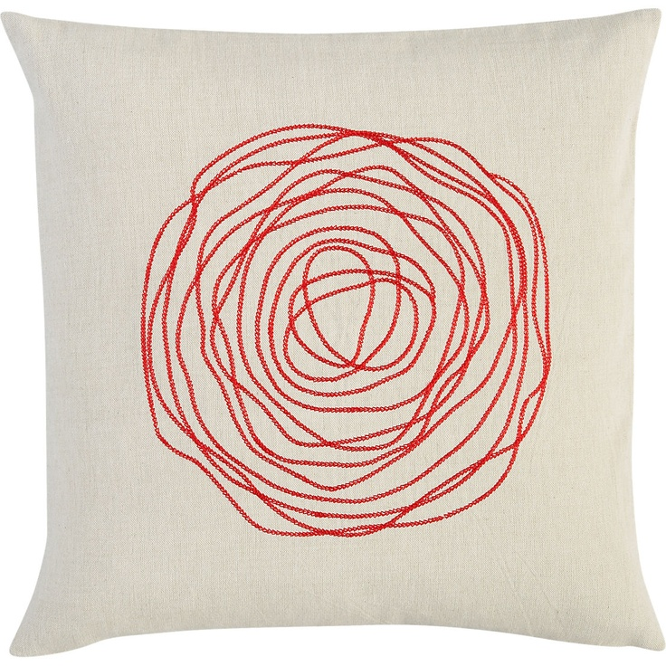 "ebb red 16"" pillow in new rugs and pillows 
