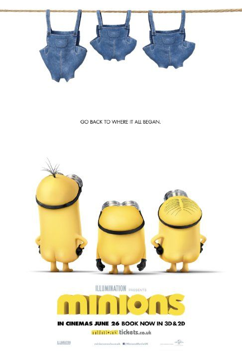 Minions (2015) Minions Stuart, Kevin and Bob are recruited by Scarlet Overkill, a super-villain who, alongside her inventor husband Herb, hatches a plot to take over the world.