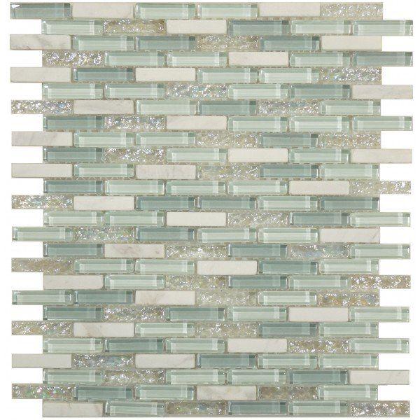 Sheet Size 11 X 11 1 4 Tile Size 3 8 X 1 5 8 Tiles Per Sheet 156 Tile Thickness 1 4 Grout Joints 1 8 Sheet Mou Sea Glass Tile Brick Tiles Glass Tile