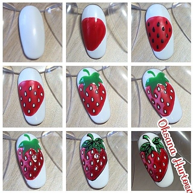 Best 25 strawberry nail art ideas on pinterest nail designs strawberry nail prinsesfo Gallery