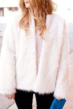 Patron gratuit : une veste oversize en fausse fourrure