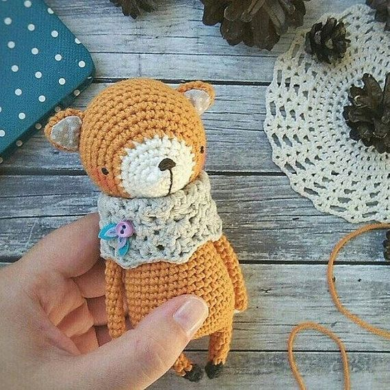 FOX crochet pattern by littleowletshop on Etsy