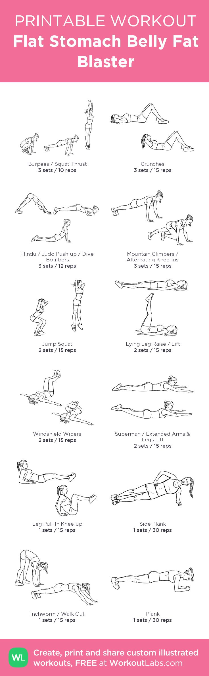 Free Flat Belly Exercises