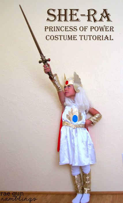 How to make your own She-Ra Princess of Power #halloween #costume - Rae Gun Ramblings